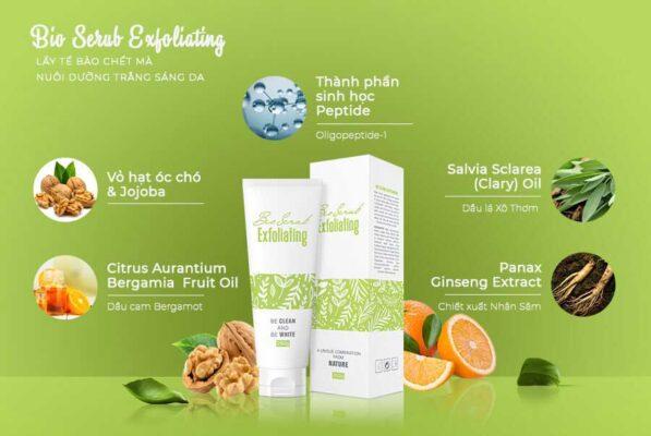 Bio Scrub Exfoliating với chiết xuất từ các thành phần trong tự nhiên