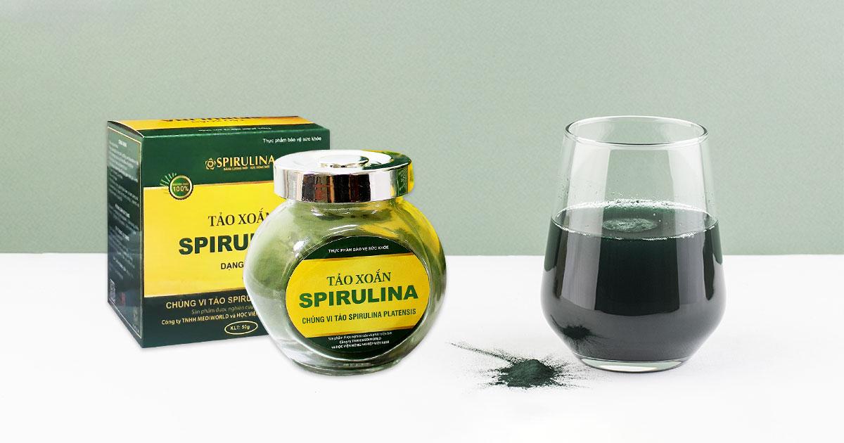 Cách uống Tảo xoắn Spirulina tăng cân cho những người gầy
