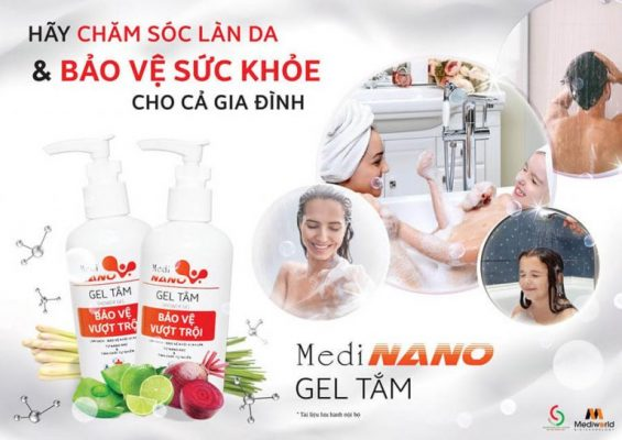 Sử dụng gel tắm MediNano hàng ngày để chăm sóc sức khỏe cho cả gia đình