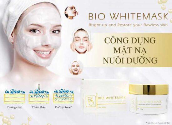 Bio White Mask hỗ trợ nuôi dưỡng làn da sáng mịn bật tone an toàn