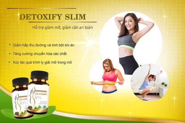Detoxify Slim thúc đẩy quá trình chuyển hóa mỡ thừa