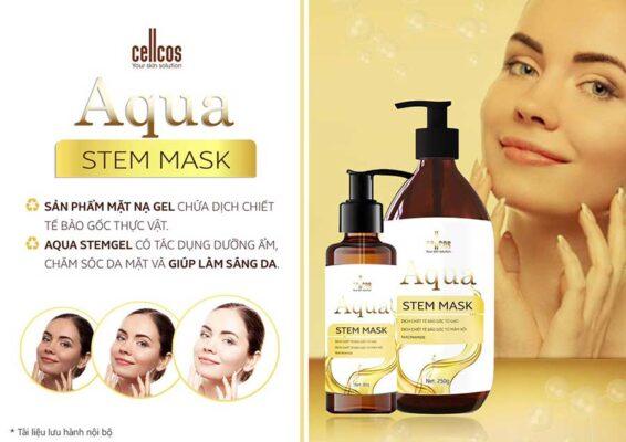Mặt nạ Aqua Stem Mask giúp dưỡng ẩm và làm sáng da