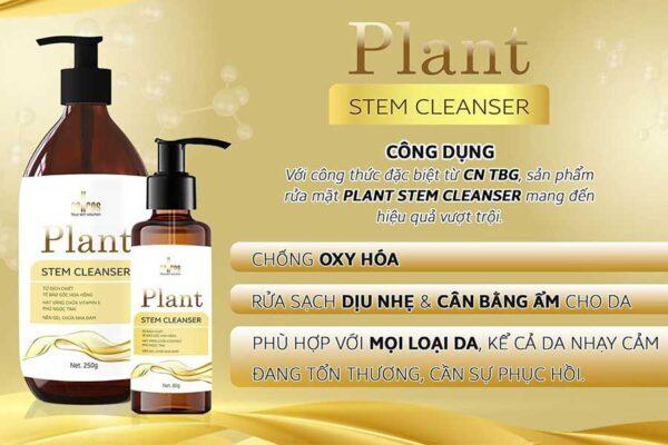 Plant Stem Cleanser - Sữa rửa mặt làm sạch và nuôi dưỡng phục hồi làn da