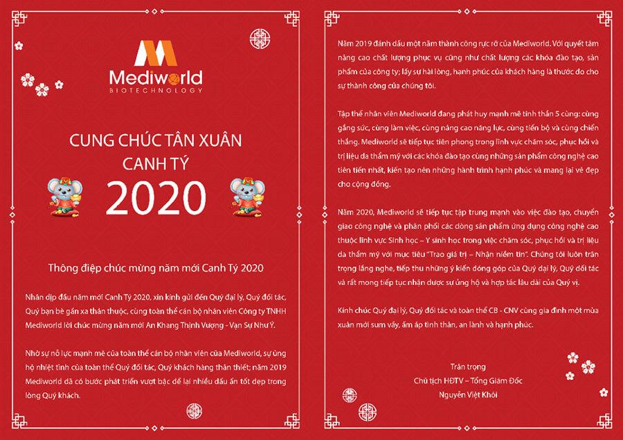 Thiệp chúc mừng năm mới Canh Tý 2020 - Mediworld