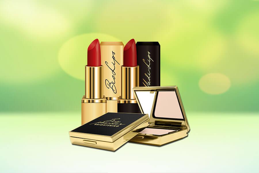 Bộ sản phẩm trang điểm Xanh - Sạch với phấn Bio Powder Brightening và son môi Bio Lips/ Medi Lips
