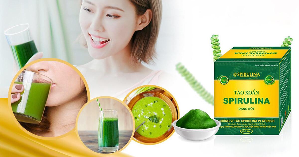 Công dụng của tảo xoắn dạng bột Spirulina - Thực phẩm vàng cho sức khỏe