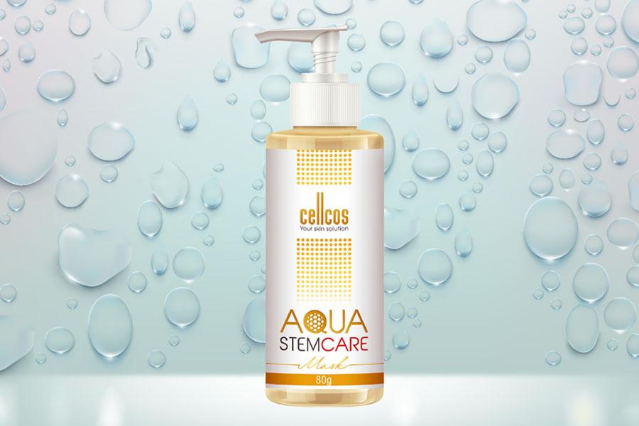 Dưỡng chất Aqua Stemcare nằm trong bộ sản phẩm siêu cấp nước và giữ ẩm Cellcos