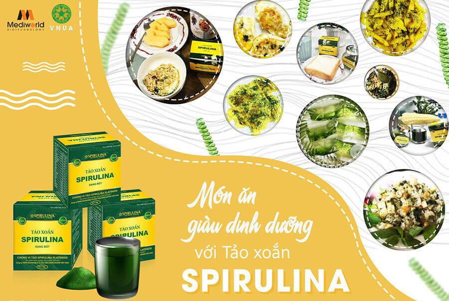 Một vài phương pháp chế biến món ăn kèm Bột tảo xoắn Spirulina giúp tăng cân an toàn