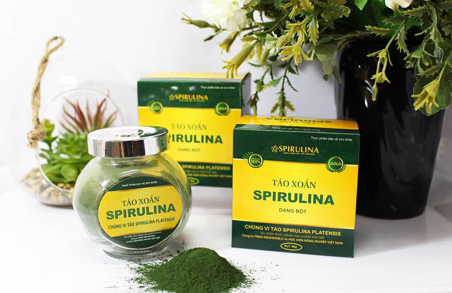 Tảo xoắn Spirulina dạng bột nguyên chất
