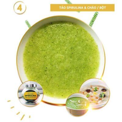 Vi tảo Spirulina với cháo bột