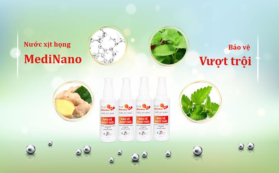 Bảo vệ vượt trội với nước xịt họng MediNano trong dòng sản phẩm MediNano
