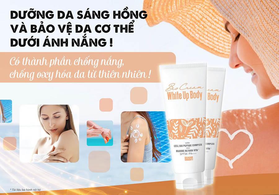 Bio Cream White Up Body - Kem dưỡng trắng da an toàn từ các thành phần tự nhiên