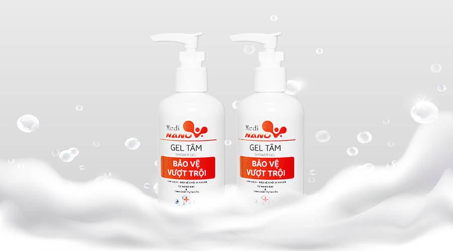 Làm sạch và bảo vệ cơ thể toàn diện với Gel tắm MediNano trong dòng sản phẩm MediNano