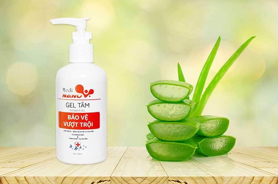 Gel tắm MediNano - Bảo vệ cơ thể với thành phần từ dịch chiết Nha đam