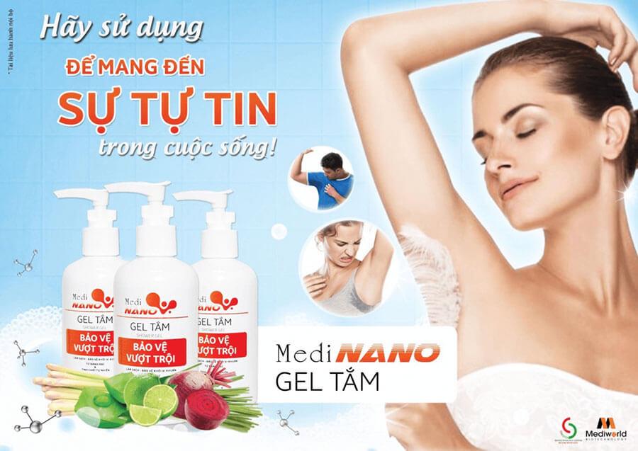 Gel tắm MediNano có thể kết hợp hiệu quả vào quy trình wax lông, triệt lông an toàn