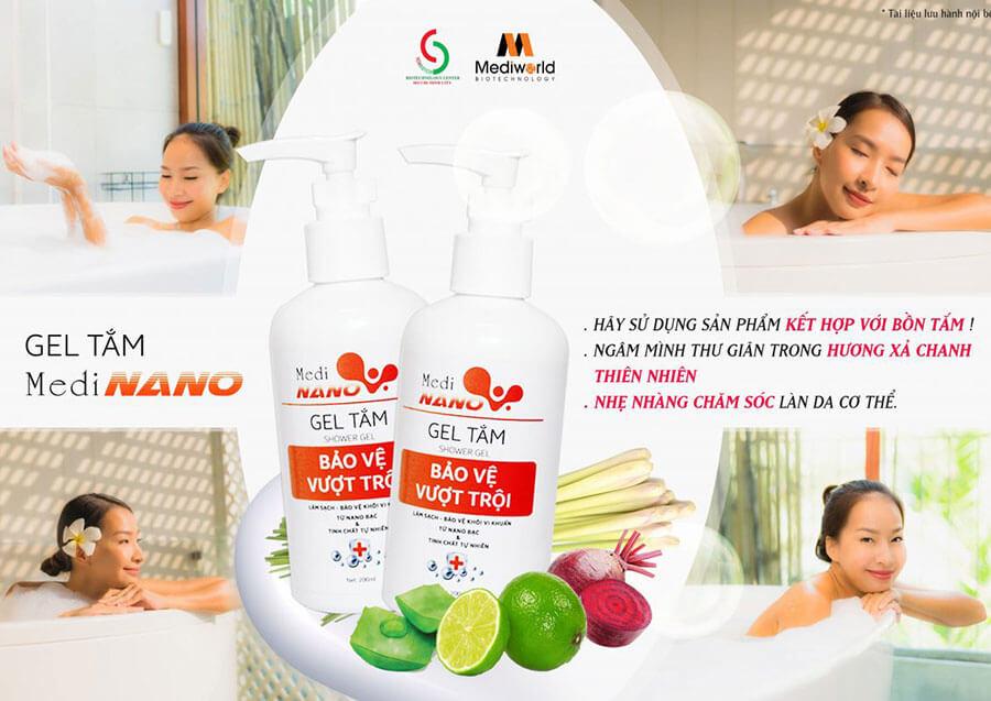 Gel tắm kháng khuẩn MediNano - Bảo vệ cơ thể vượt trội