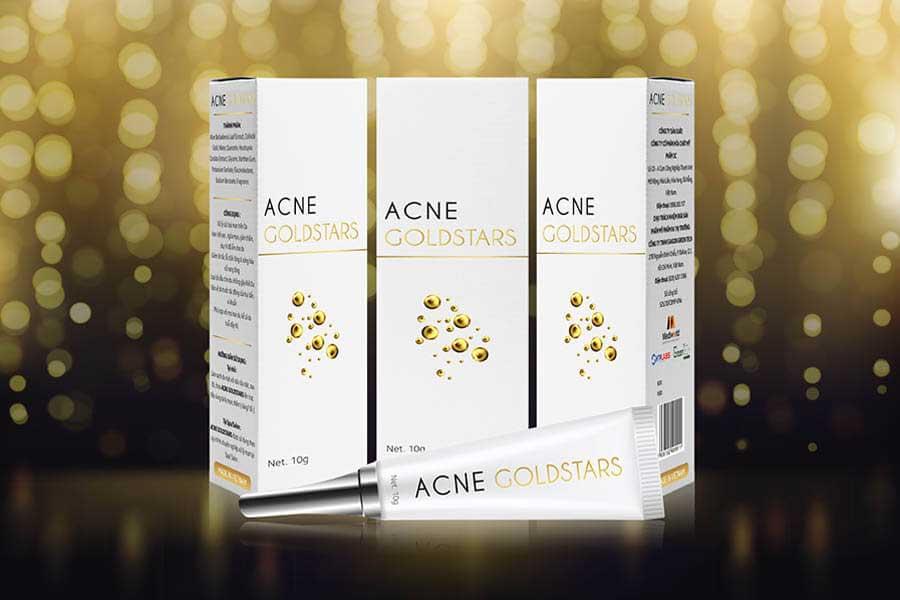 Acne GoldStars - Ứng dụng công nghệ Nano Vàng dạng ngôi sao