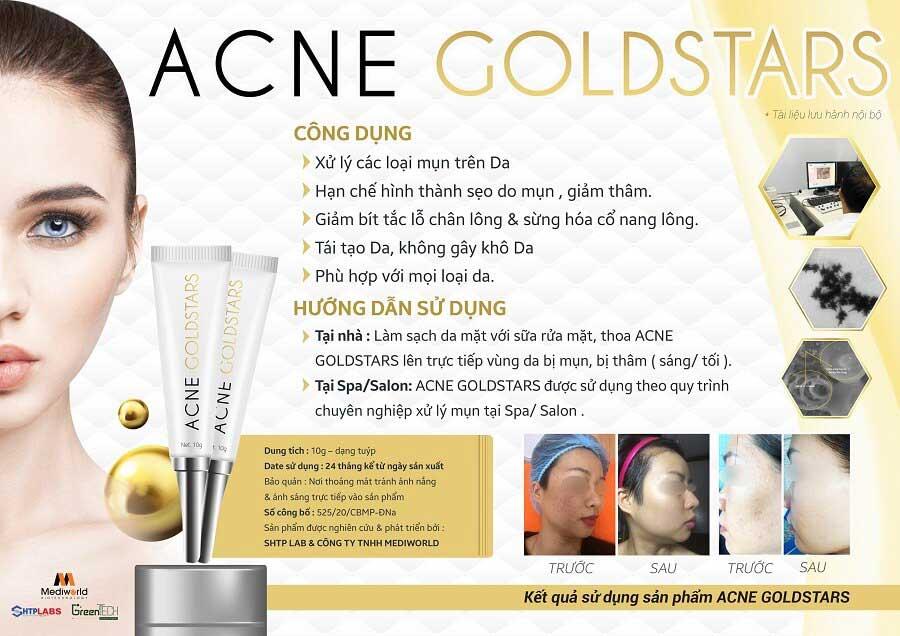 Acne GoldStars sẽ giúp bạn loại trừ hầu hết các loại mụn với nhiều cấp độ khác nhau
