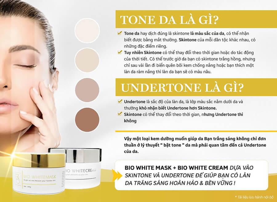 Bộ đôi Bio White – Bật tone sáng mịn dựa vào skintone và Undertone của da