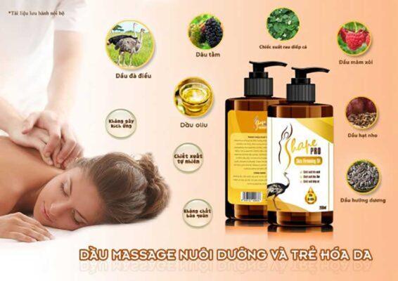 S Shape Pro Skin Firming Oil với thành phần từ các tinh dầu thiên nhiên