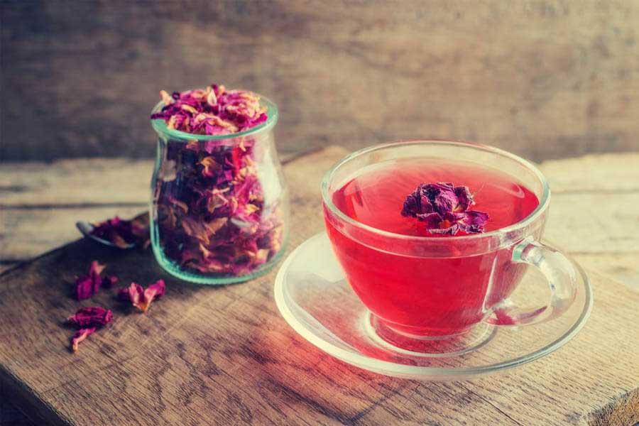 Trà hoa hồng giúp thư giãn và giảm cân