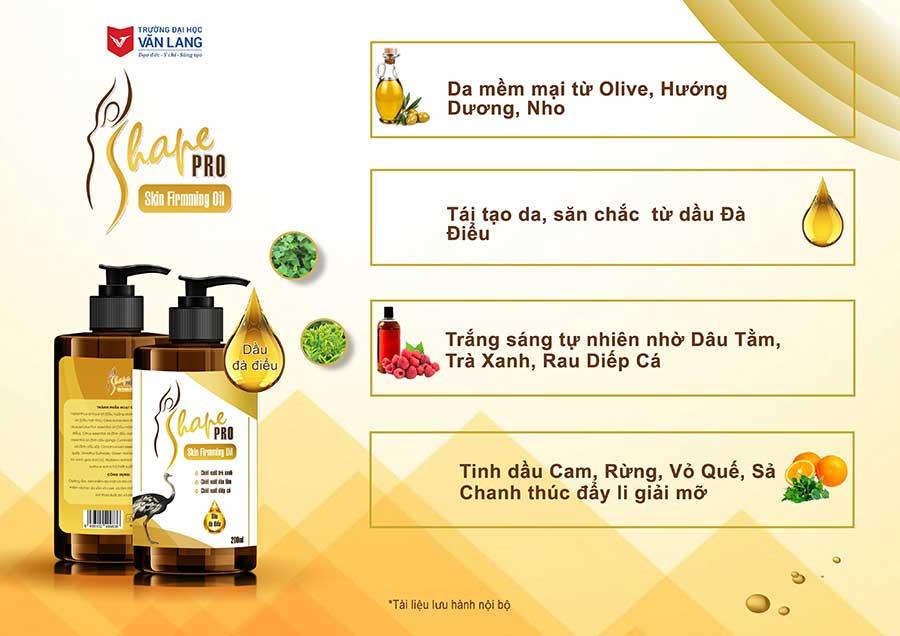 S Shape Pro Skin Firming Oil - Nuôi dưỡng và hỗ trợ trẻ hóa da