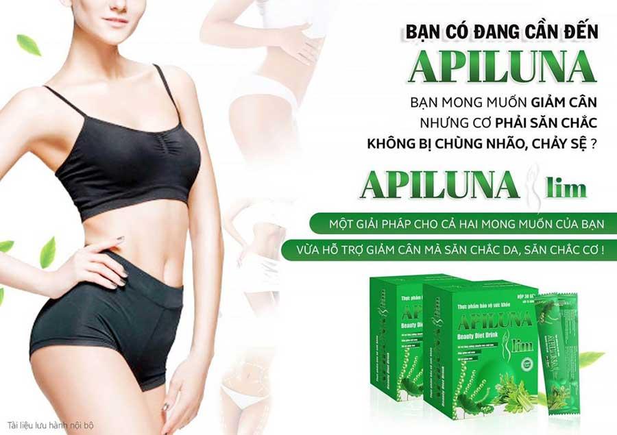 Thực dưỡng Apiluna Slim rất phù hợp với người cần giảm cân