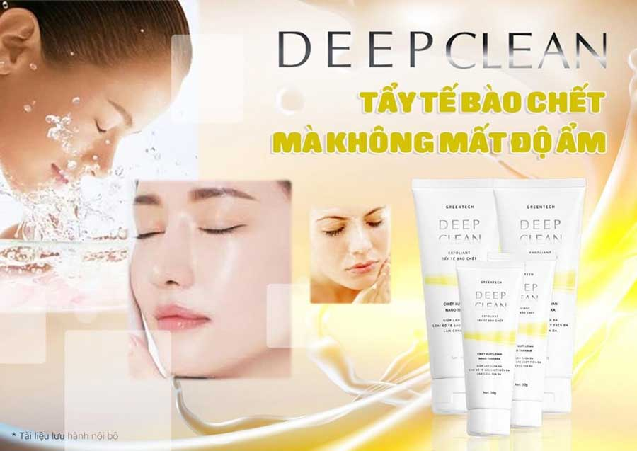 Deep Clean giúp lấy đi tế bào chết mà không làm mất độ ẩm làn da