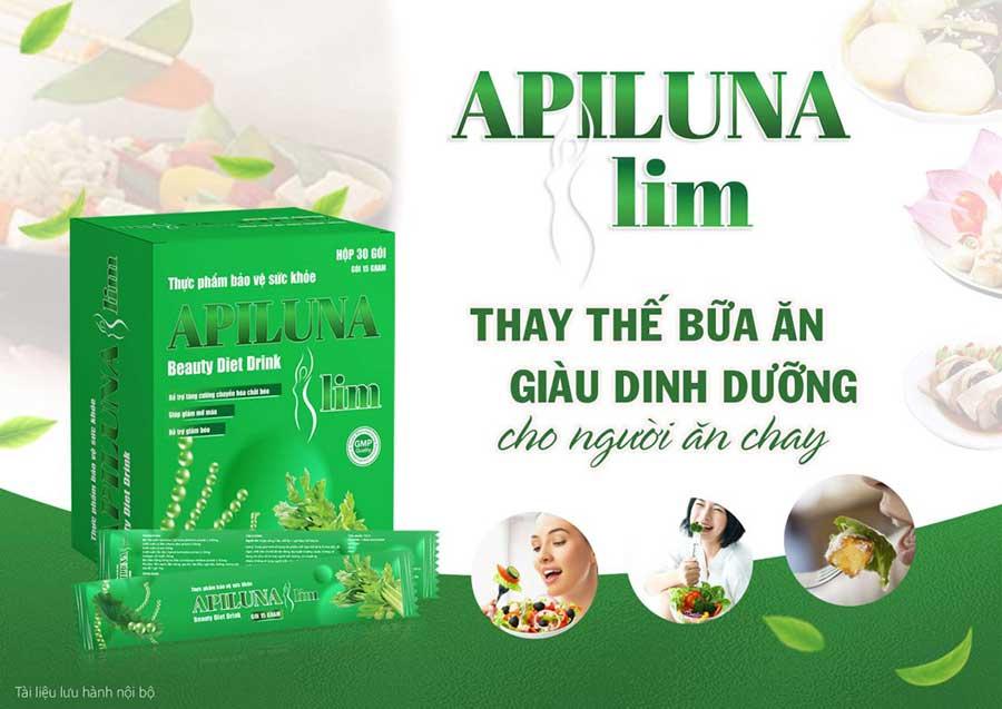 Thực dưỡng Apiluna Slim giúp hỗ trợ giảm cân an toàn, hiệu quả