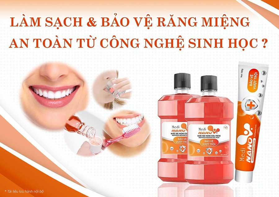 Bộ đôi sản phẩm MediNano - Hỗ trợ bảo vệ và làm sạch khoang miệng toàn diện