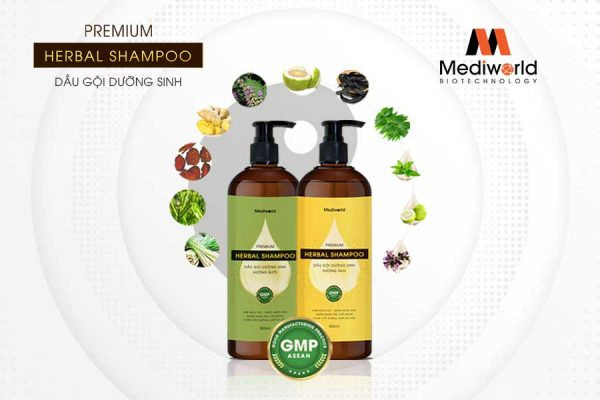 Dầu gội dưỡng sinh Premium Herbal Shampoo là sự kết hợp hoàn hảo của 15 dược liệu cổ truyền thiên nhiên