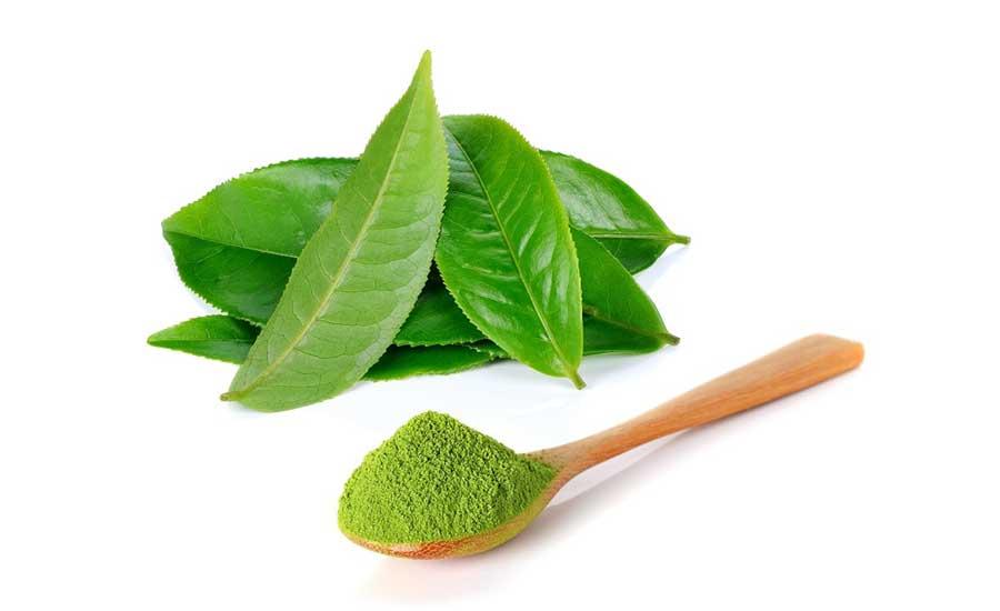 Kết hợp giữa lá trà xanh xay nhuyễn và baking soda hoặc muối để khử đi mùi cơ thể