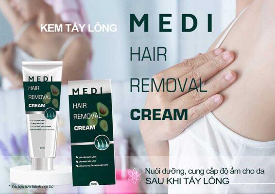 Medi Hair Removal Cream - Kem tẩy lông an toàn