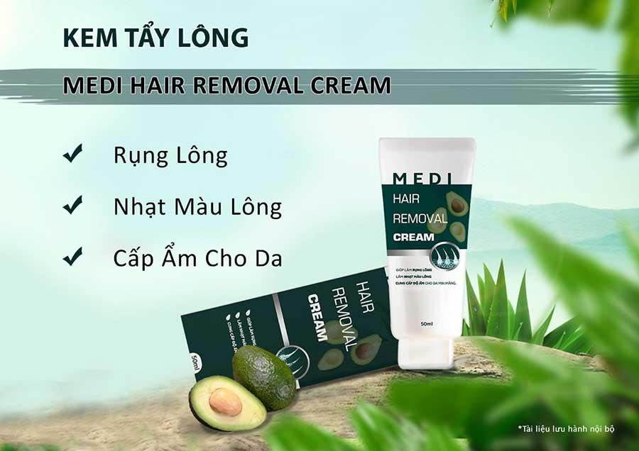 Tẩy lông an toàn với Medi Hair Removal Cream