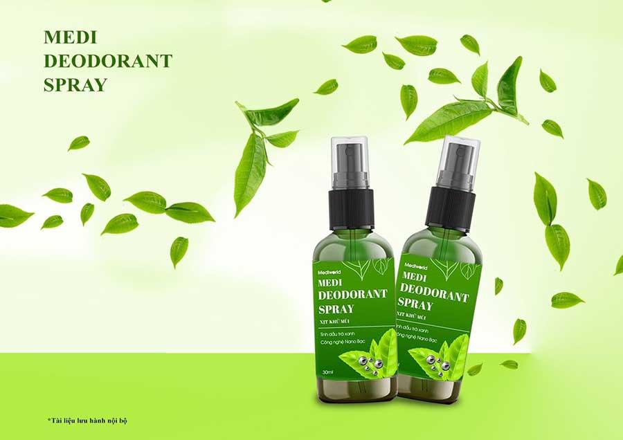 Medi Deodorant Spray - sản phẩm xịt khử mùi chất lượng được nhiều khách hàng yêu thích và lựa chọn