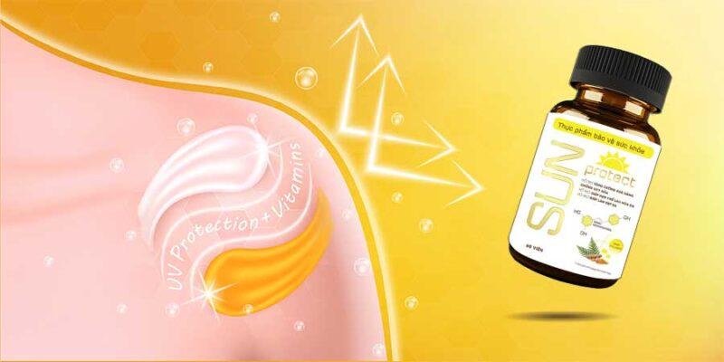 Sun Protect được ứng dụng thành phần chính từ các hoạt chất thiên nhiên