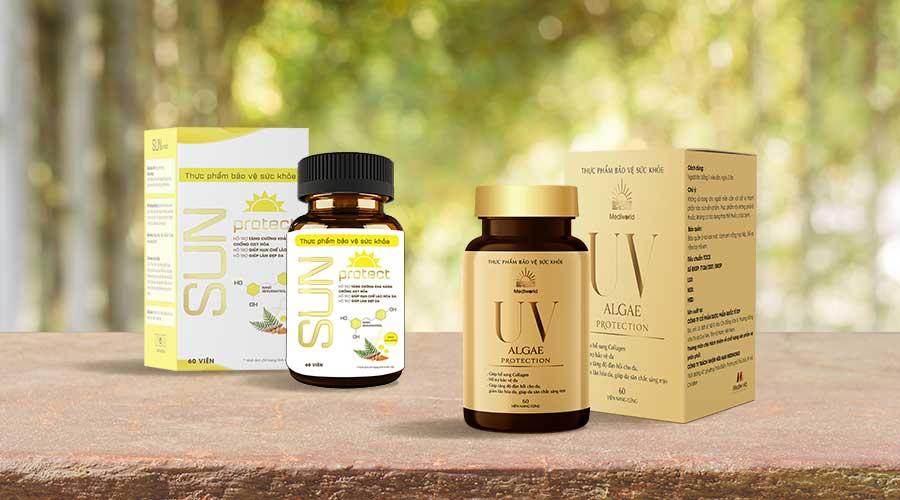 Viên uống Sun Protect và Viên uống UV Algae Protection